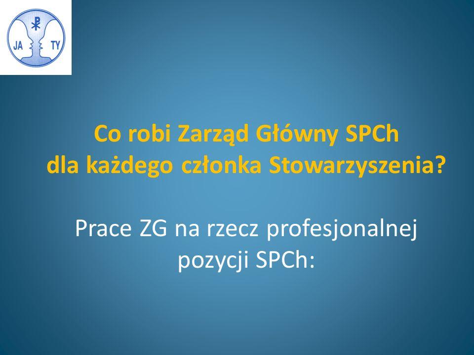 Co robi Zarząd Główny SPCh dla każdego członka Stowarzyszenia.