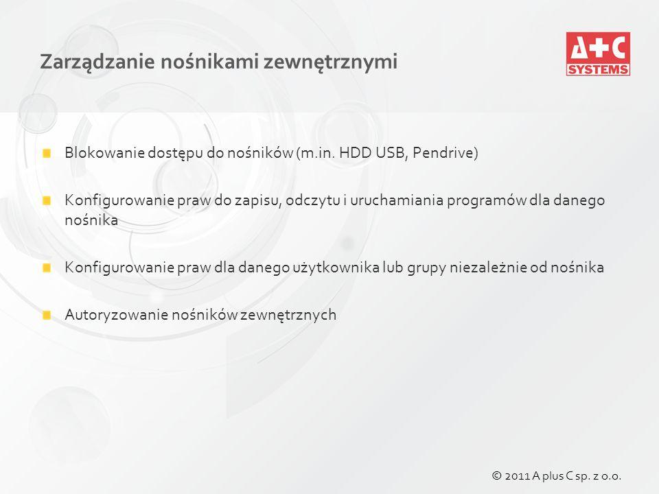 Zarządzanie nośnikami zewnętrznymi Blokowanie dostępu do nośników (m.in.