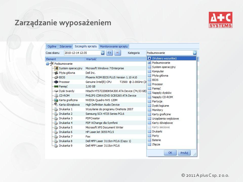 Zarządzanie Oprogramowaniem Ewidencja posiadanych licencji Dowolne typy licencji: czasowe, OEM, upgrade, etc.