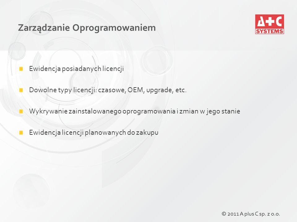 Zarządzanie Oprogramowaniem © 2011 A plus C sp. z o.o.