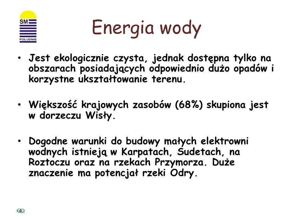 Energia wodna wykorzystuje płynącą wodę, aby wyprodukować energię elektryczną