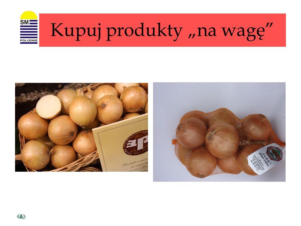 Kupuj produkty w większych opakowaniach