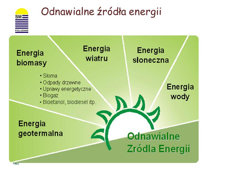 Odnawialne źródła energii to źródła energii, których używanie nie wiąże się z długotrwałym ich deficytem USTAWA PRAWO ENERGETYCZNE Odnawialne źródło e