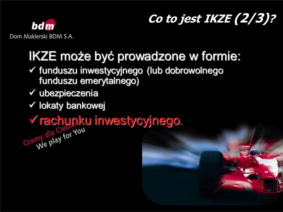 Zalety IKZE w formie rachunku inwestycyjnego.