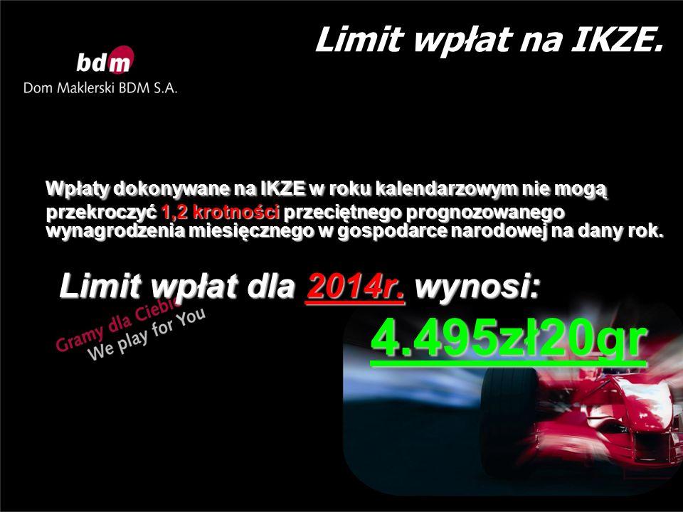 Ograniczenia dotyczące rachunku inwestycyjnego prowadzonego w formie IKZE.