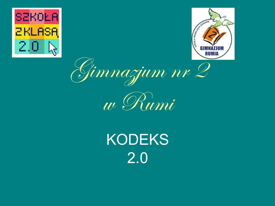 Gimnazjum nr 2 w Rumi KODEKS 2.0