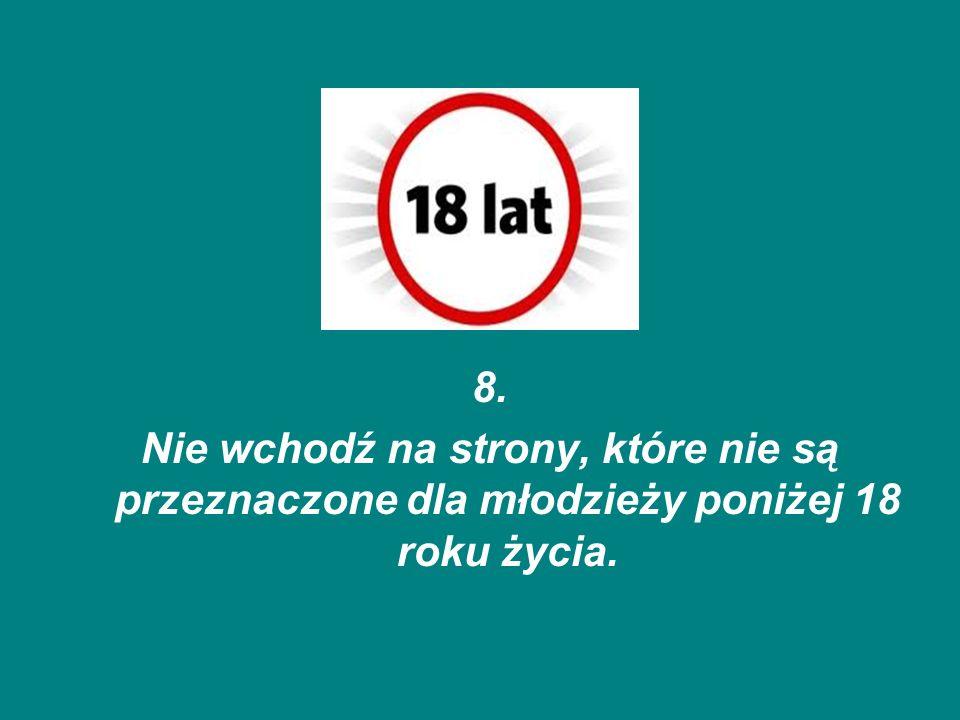 9.Nie korzystaj z urządzeń elektronicznych na lekcjach (np.