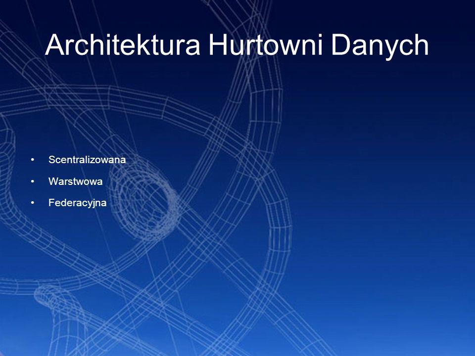 Architektura scentralizowana Scentralizowana hurtownia danych jest stosunkowo prostą architekturą.