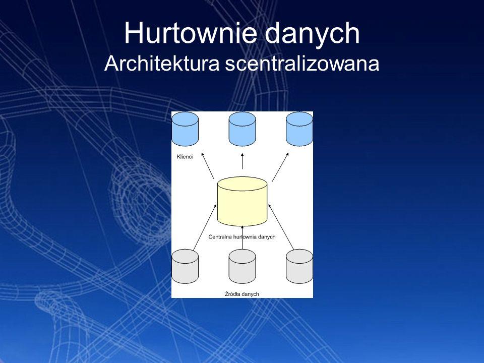 Architektura warstwowa Następnym rodzajem jest warstwowa architektura hurtowni danych.