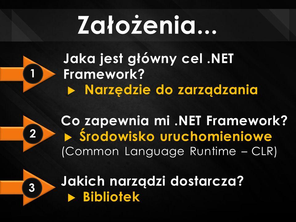 Założenia...Jaka jest główny cel.NET Framework.