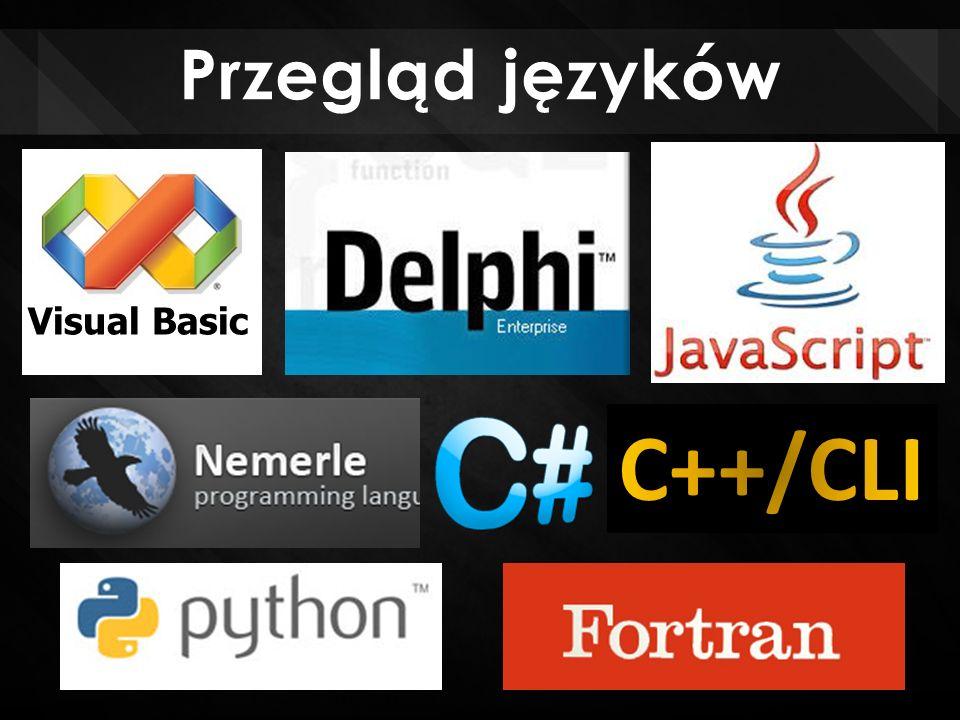 Przegląd języków Visual Basic