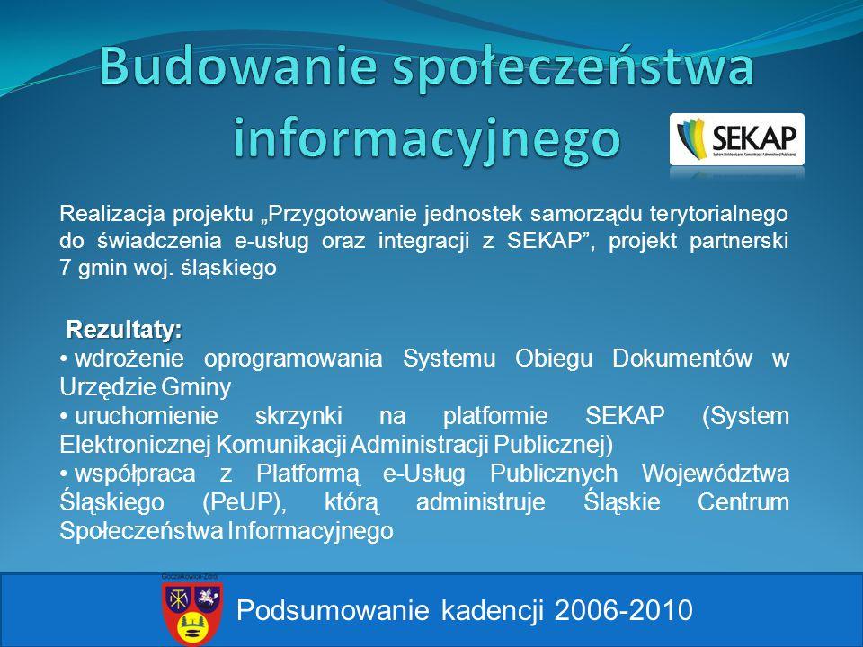 Realizacja projektu Przygotowanie jednostek samorządu terytorialnego do świadczenia e-usług oraz integracji z SEKAP, projekt partnerski 7 gmin woj. śl