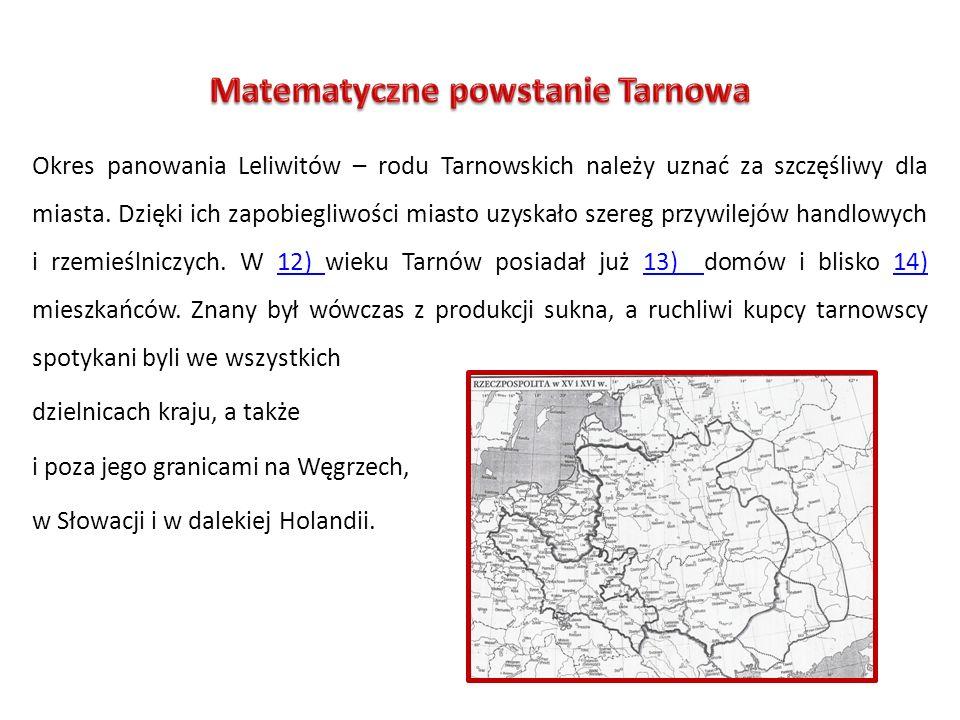 Okres panowania Leliwitów – rodu Tarnowskich należy uznać za szczęśliwy dla miasta. Dzięki ich zapobiegliwości miasto uzyskało szereg przywilejów hand
