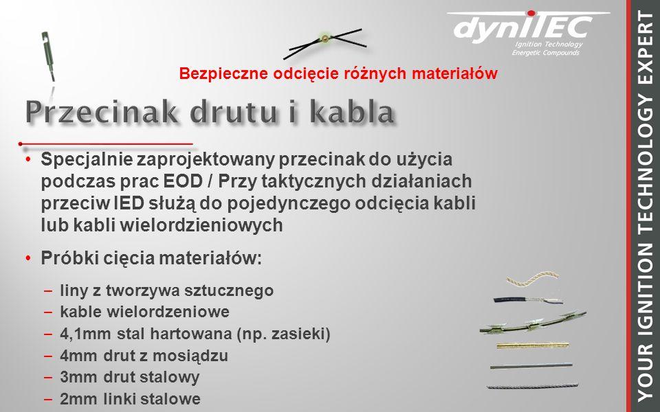 Specjalnie zaprojektowany przecinak do użycia podczas prac EOD / Przy taktycznych działaniach przeciw IED służą do pojedynczego odcięcia kabli lub kab
