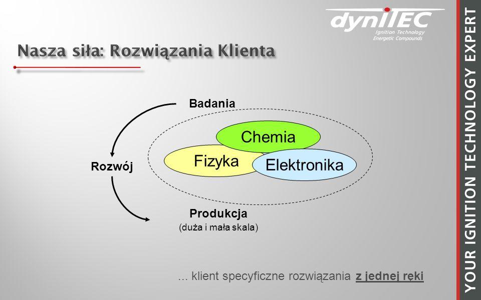 Fizyka Chemia Elektronika Badania Rozwój Produkcja (duża i mała skala)... klient specyficzne rozwiązania z jednej ręki