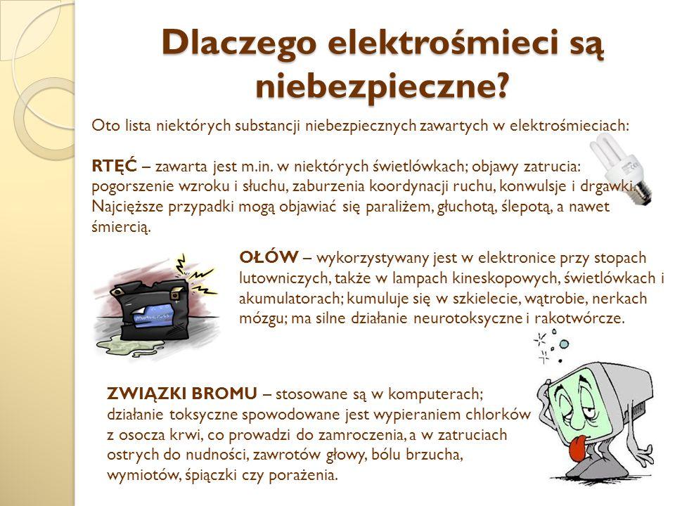 Dlaczego elektrośmieci są niebezpieczne.