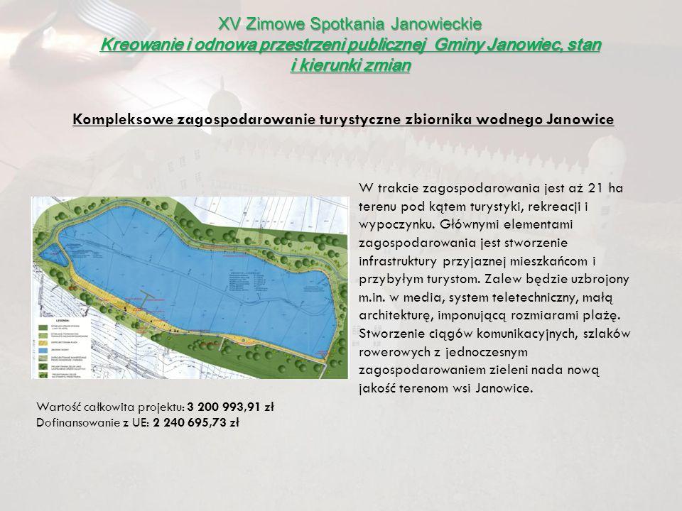 XV Zimowe Spotkania Janowieckie Kreowanie i odnowa przestrzeni publicznej Gminy Janowiec, stan i kierunki zmian W trakcie zagospodarowania jest aż 21
