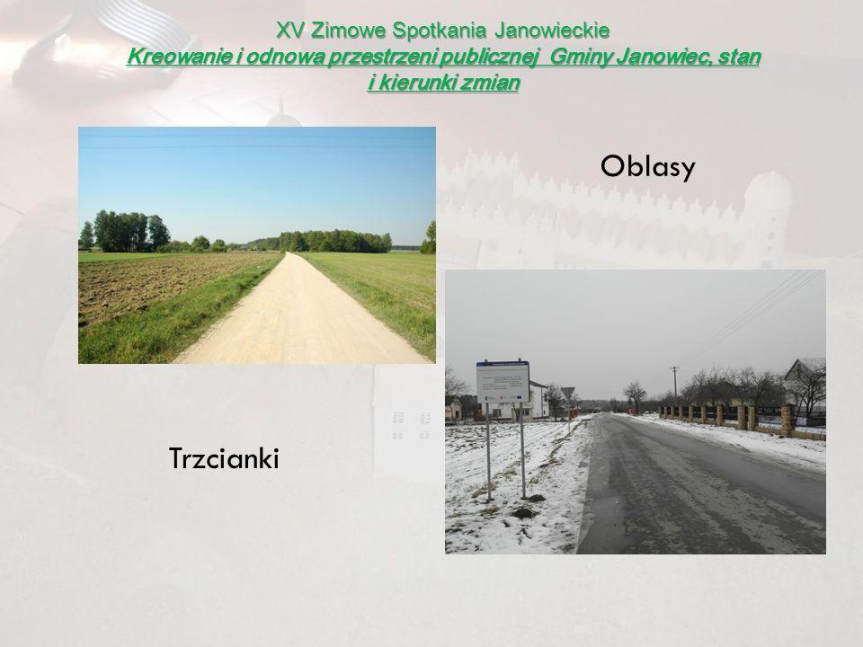 XV Zimowe Spotkania Janowieckie Kreowanie i odnowa przestrzeni publicznej Gminy Janowiec, stan i kierunki zmian Trzcianki Oblasy