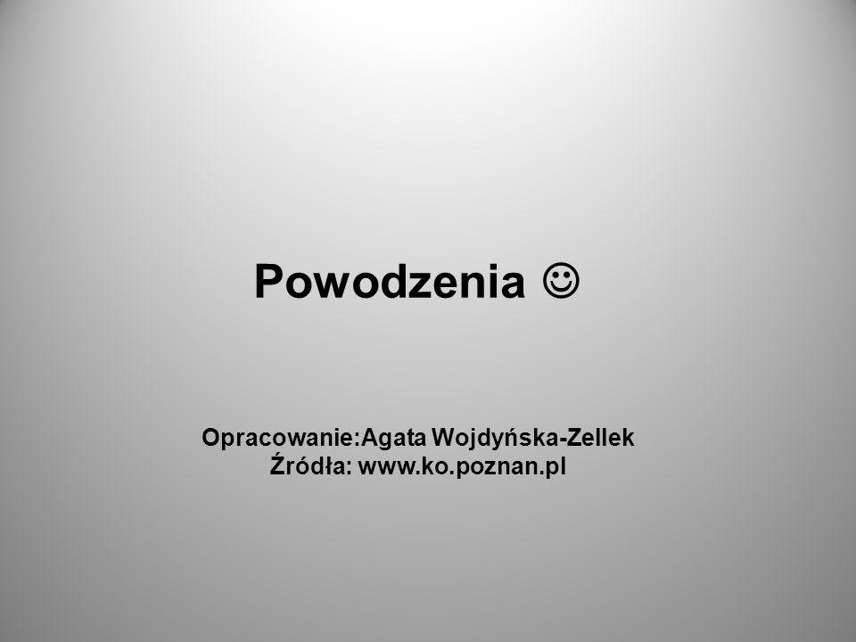 Powodzenia Opracowanie:Agata Wojdyńska-Zellek Źródła: www.ko.poznan.pl