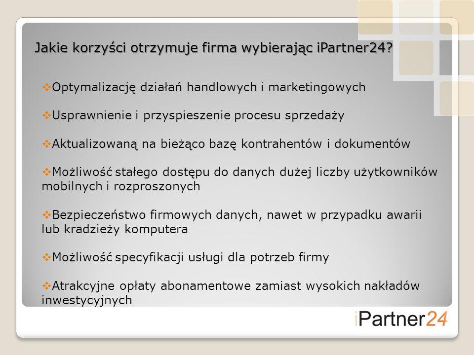 Jakie korzyści otrzymuje firma wybierając iPartner24? Optymalizację działań handlowych i marketingowych Usprawnienie i przyspieszenie procesu sprzedaż