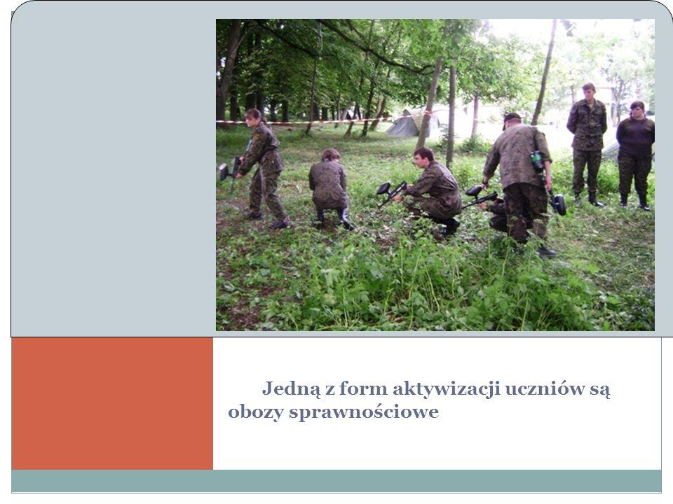 Jedną z form aktywizacji uczniów są obozy sprawnościowe Akcja w Ł azach