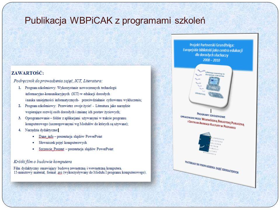 Publikacja WBPiCAK z programami szkoleń