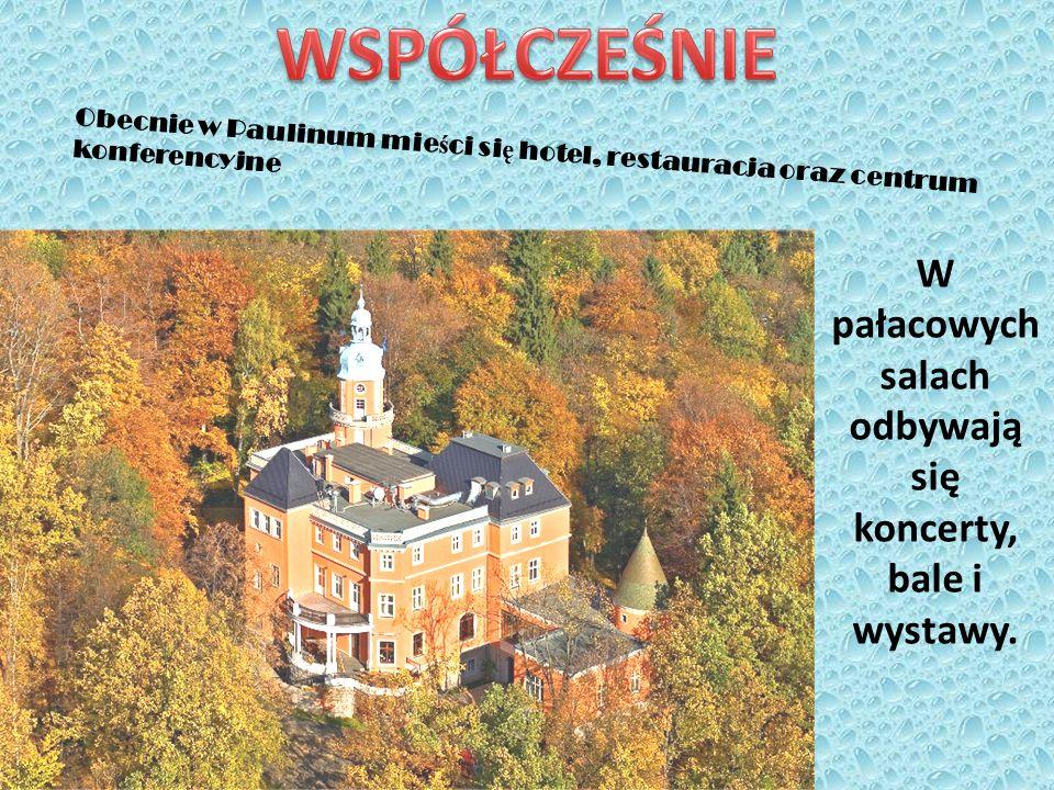 W pałacowych salach odbywają się koncerty, bale i wystawy. Obecnie w Paulinum mie ś ci si ę hotel, restauracja oraz centrum konferencyjne