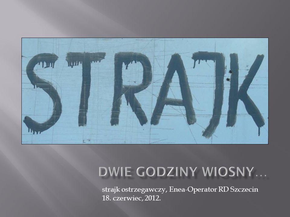 strajk ostrzegawczy, Enea-Operator RD Szczecin 18. czerwiec, 2012.