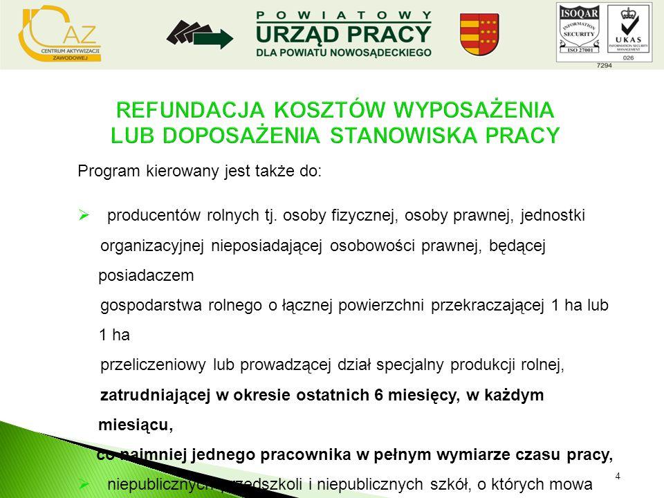 program skierowany jest do wszystkich bezrobotnych zarejestrowanych w PUP oraz, podmiotów gospodarczych prowadzących działalność co najmniej 6 miesięc