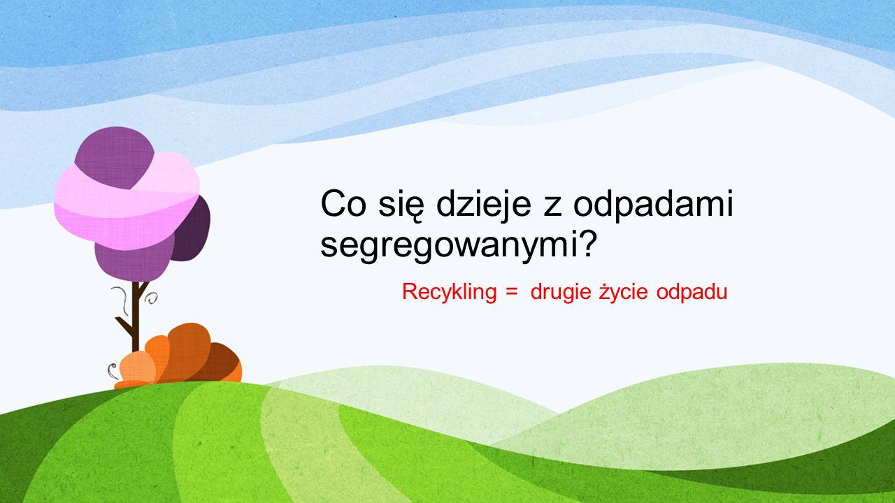 Co się dzieje z odpadami segregowanymi? Recykling = drugie życie odpadu