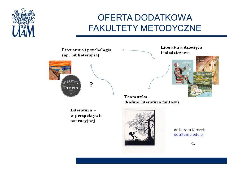 OFERTA DODATKOWA FAKULTETY METODYCZNE