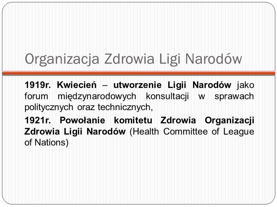Biuro krajowe WHO w Polsce Biuro Krajowe WHO w Polsce otwarto w 1992 roku.