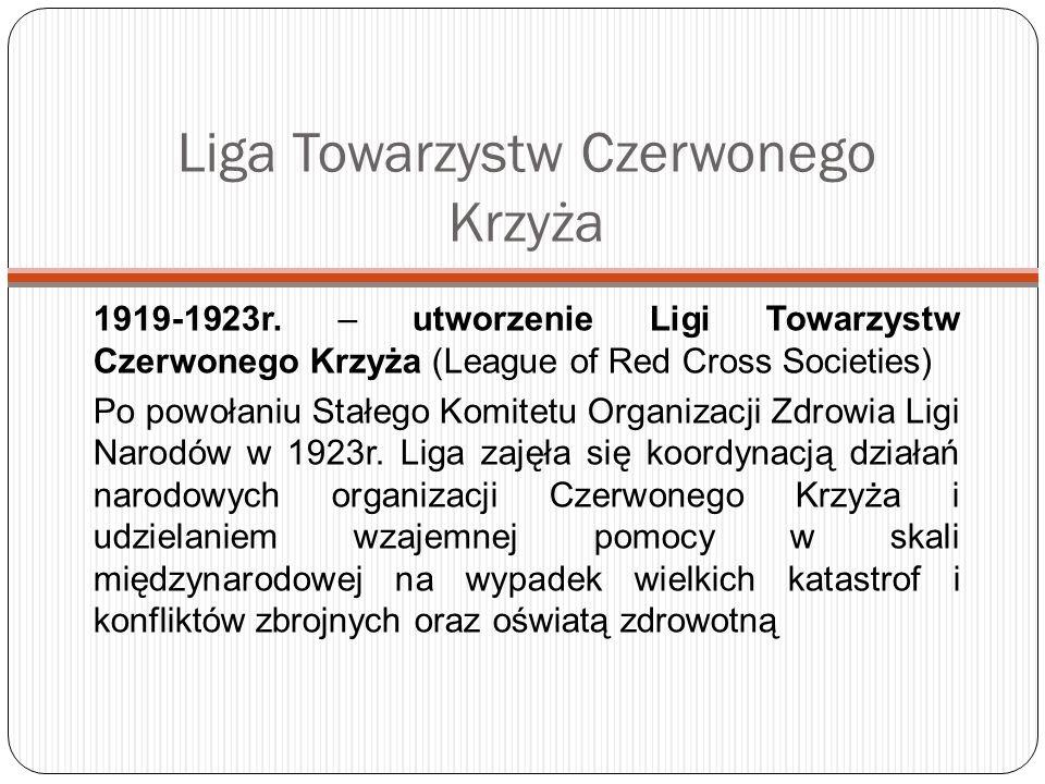 Polska w WHO Polska stała się krajem członkowskim WHO 6 maja 1948 r.