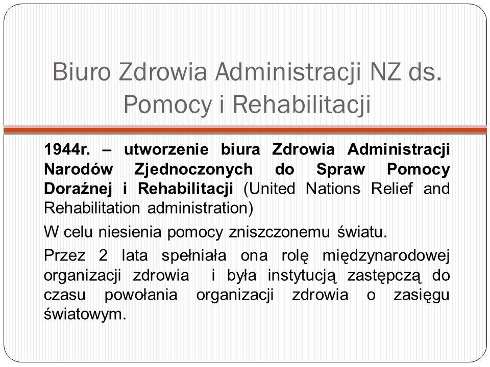 WHO i Polska Głównym partnerem Biura WHO w Polsce jest Ministerstwo Zdrowia.