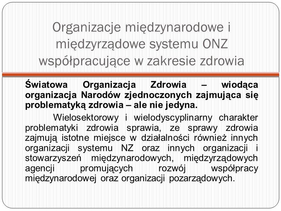 WHO i Polska Zadaniem Dyrektora Biura WHO w Polsce (Head of the WHO Country Office in Poland) jest zapewnienie kooperacji między Biurem Regionalnym WHO w Kopenhadze a krajem członkowskim.