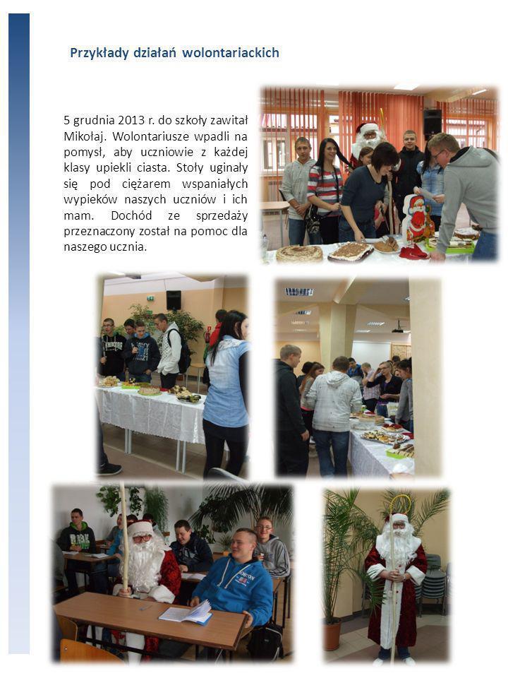 Przykłady działań wolontariackich 5 grudnia 2013 r.