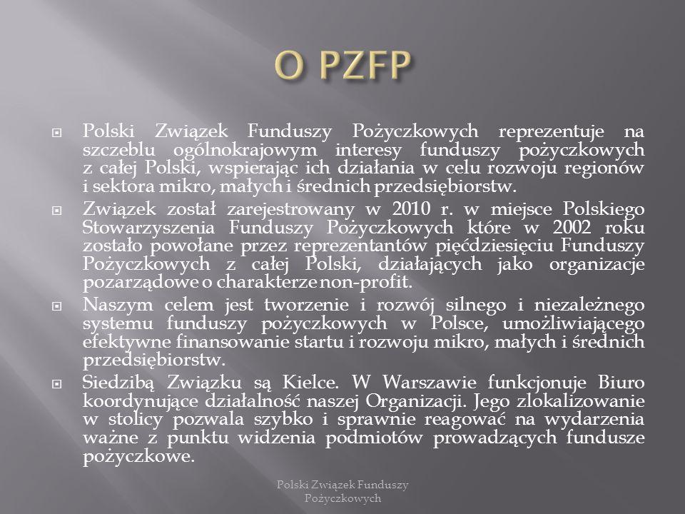 Polski Związek Funduszy Pożyczkowych reprezentuje na szczeblu ogólnokrajowym interesy funduszy pożyczkowych z całej Polski, wspierając ich działania w