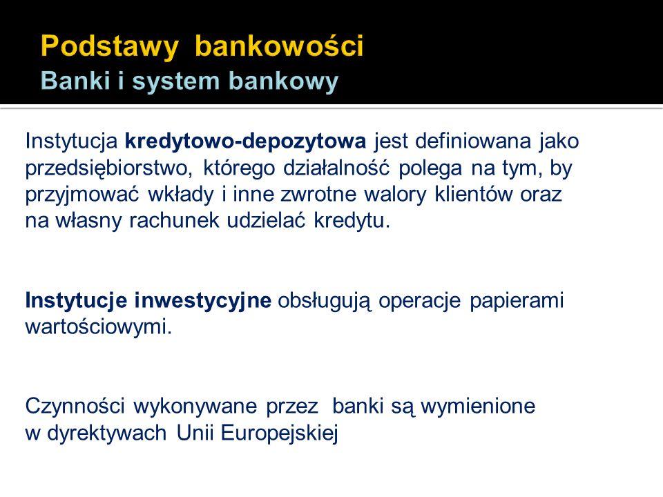 Do usług bankowych i innych zostały zaliczone następujące czynności: Przyjmowanie od społeczeństwa depozytów i innych funduszy podlegających zwrotowi.