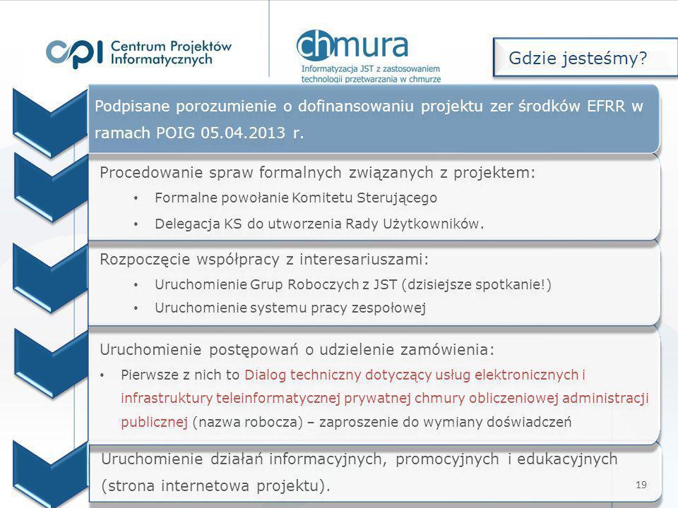 Uruchomienie działań informacyjnych, promocyjnych i edukacyjnych (strona internetowa projektu). Uruchomienie postępowań o udzielenie zamówienia: Pierw