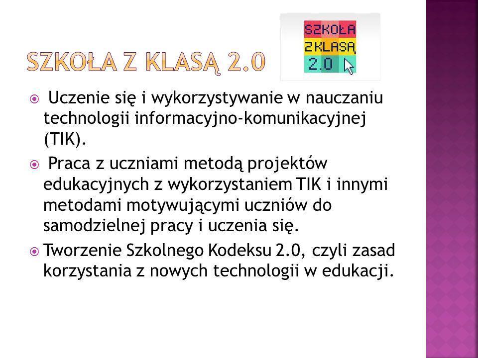 Uczenie się i wykorzystywanie w nauczaniu technologii informacyjno-komunikacyjnej (TIK). Praca z uczniami metodą projektów edukacyjnych z wykorzystani