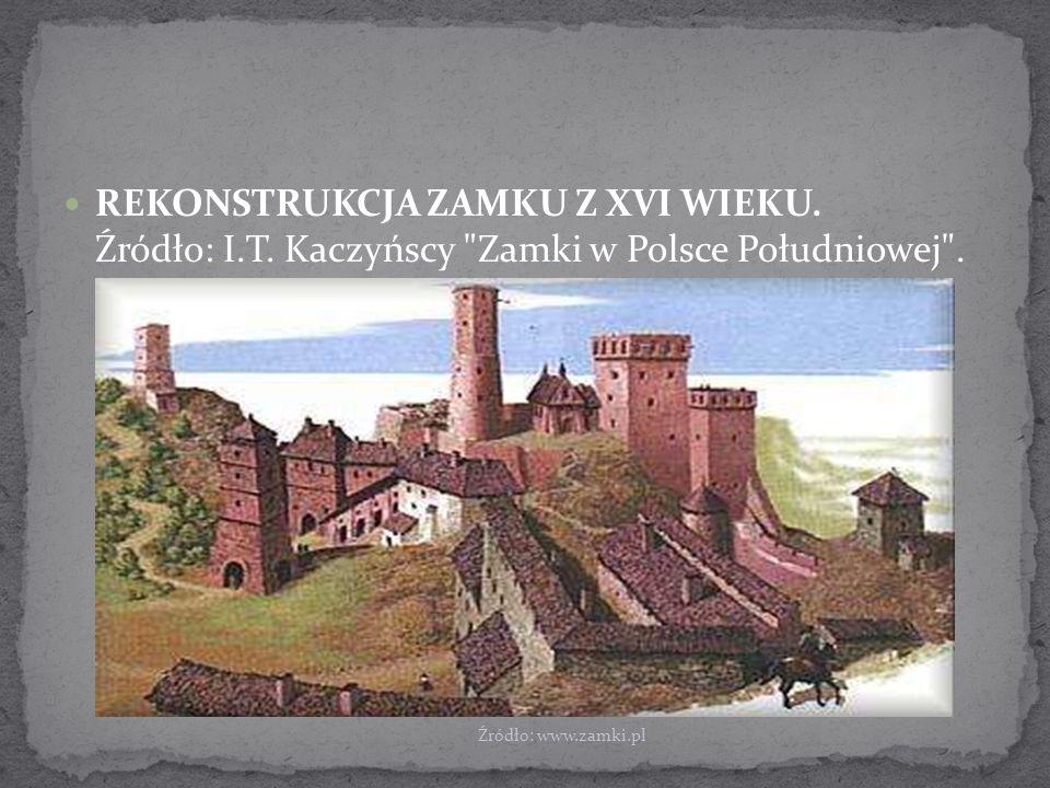 REKONSTRUKCJA ZAMKU Z XVI WIEKU.Źródło: I.T. Kaczyńscy Zamki w Polsce Południowej .