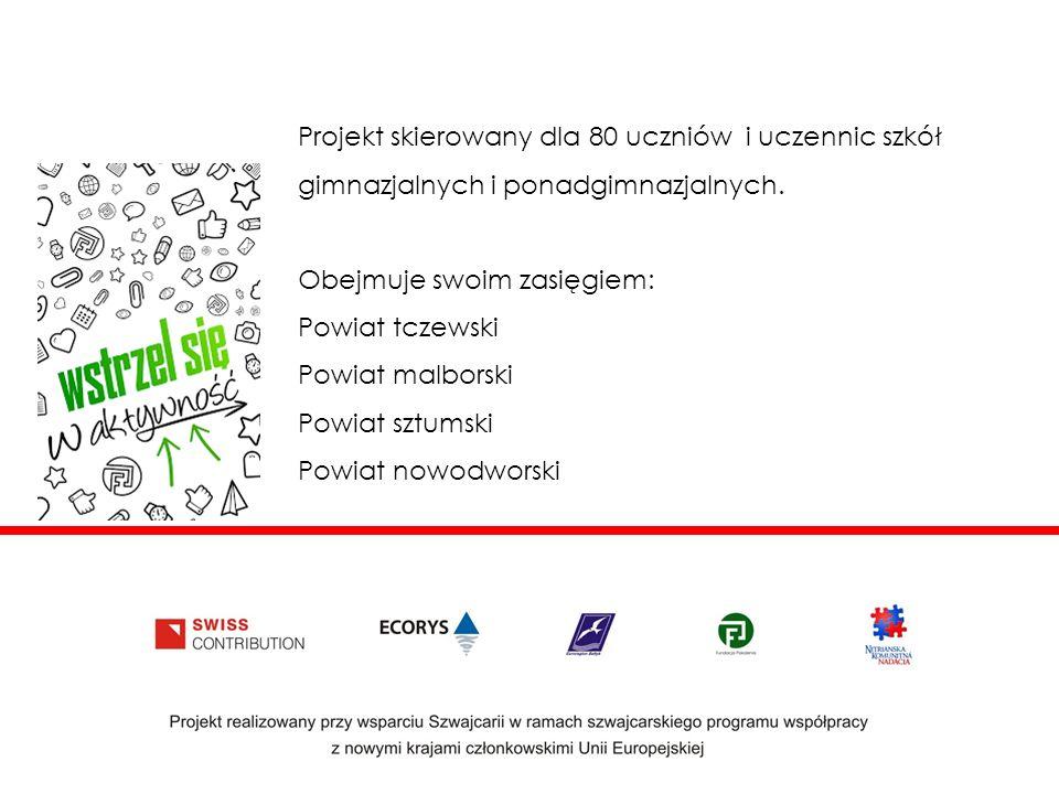 Projekt skierowany dla 80 uczniów i uczennic szkół gimnazjalnych i ponadgimnazjalnych.