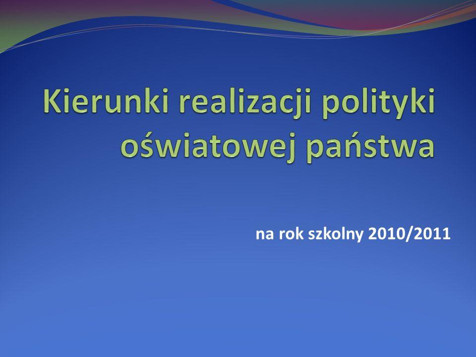 na rok szkolny 2010/2011