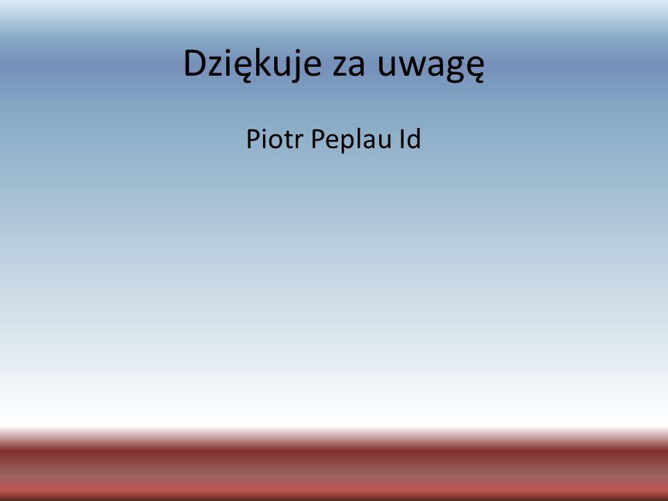 Dziękuje za uwagę Piotr Peplau Id