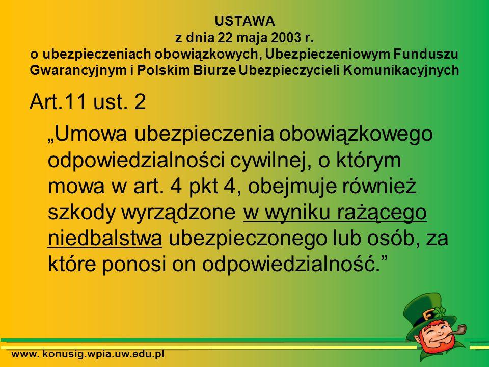 www.konusig.wpia.uw.edu.pl WINA UMYŚLNA Zamiar bezpośredni i ewentualny Art.