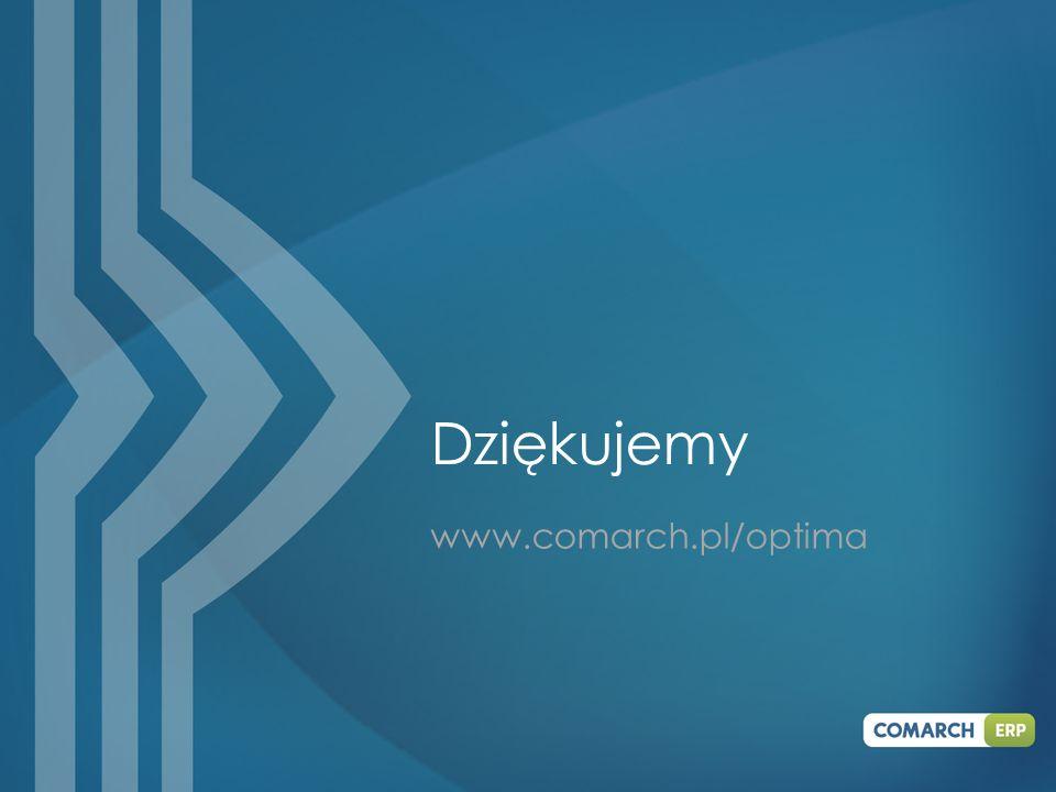 www.comarch.pl/optima Dziękujemy