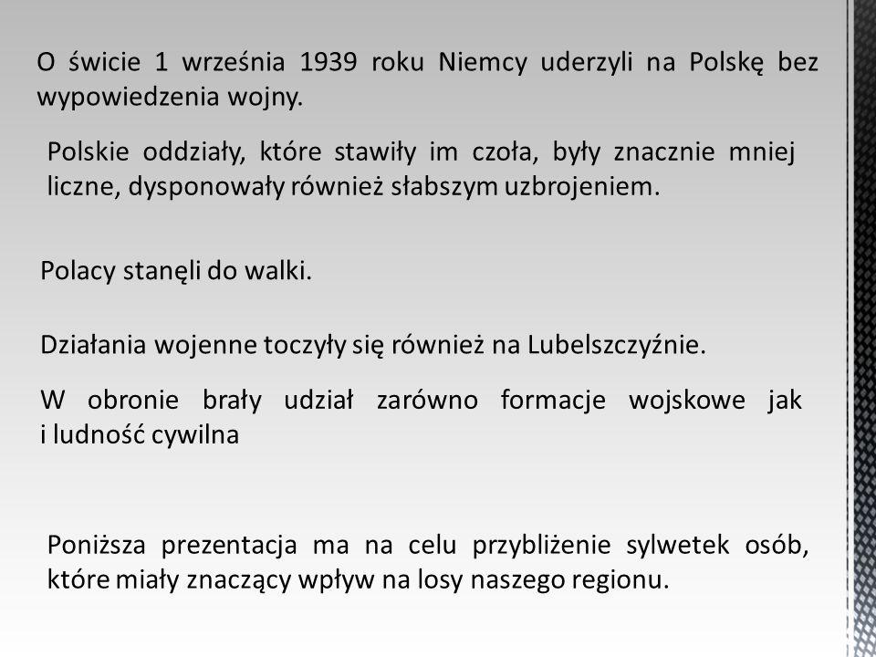 O świcie 1 września 1939 roku Niemcy uderzyli na Polskę bez wypowiedzenia wojny. Polskie oddziały, które stawiły im czoła, były znacznie mniej liczne,