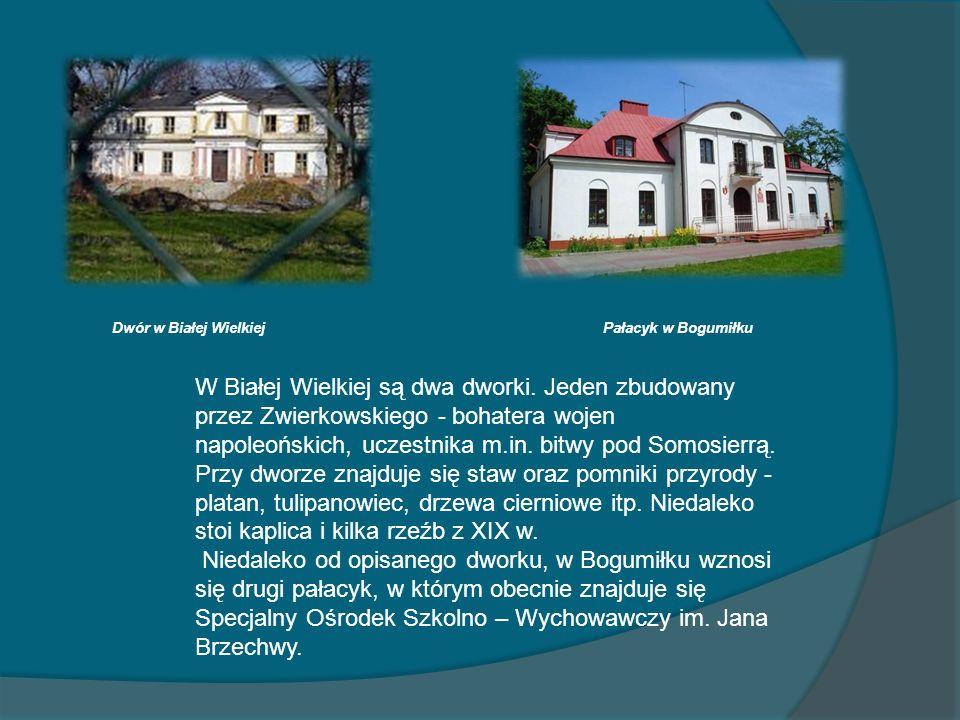 W Białej Wielkiej są dwa dworki. Jeden zbudowany przez Zwierkowskiego - bohatera wojen napoleońskich, uczestnika m.in. bitwy pod Somosierrą. Przy dwor