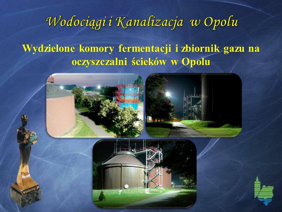 Wydzielone komory fermentacji i zbiornik gazu na oczyszczalni ścieków w Opolu