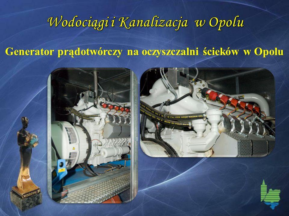 Generator prądotwórczy na oczyszczalni ścieków w Opolu
